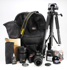 Nikon D5500 Camera & Dual VR Lens Kit - 18-55mm & 55-200mm -6,721 Shots WiFi EXC