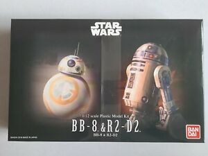 Bandai Star Wars BB-8 & R2-D2 Model Kit 0203220 in 1:12 Scale