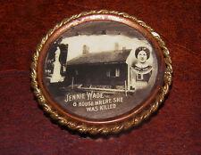 Early Gettysburg Jennie Wade House Pin Circa 1890