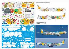 773-087 PAS-DECALS ZVEZDA BOEING 777-300 ANA POKEMON LASER DECAL 1/144 NEW