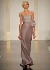 Noir by Lazaro Taupe Sweetheart Strapless  Lace Organza A-line Gown Wedding 6
