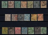 K139648/ FRANCE – SAGE TYPE – YEARS 1876 - 1898 USED CLASSIC LOT – CV 135 $