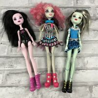 Monster High Dolls Draculaura Frankie Stein Rochelle Goyle Lot of 3