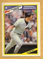 DON MATTINGLY 1987 Topps Collector Series Baseball Highlights #15 of 33~ Yankees