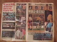 MONDIALI CALCIO MESSICO MEXICO '70 PELE' RIVA PETERS EL SALVADOR EVENING NEWS