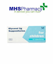 Glycerol 2g Suppositories for childx 12 glycerin