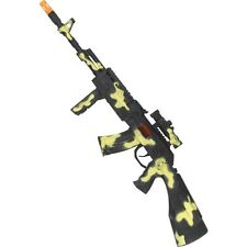 Para Hombres Ejército Camuflaje custodio de paz Arma Rifle Vestido de fantasía diversión nocturna Solider Stag