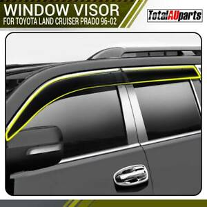 4x Weather Shield Window Visors for Toyota Land Cruiser Prado VZJ90 RZJ95 KZJ90
