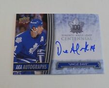 """2017 Toronto Maple Leafs Centennial Dave Andreychuk AKA Autographs """"Uncle Dave"""""""