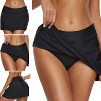 Womens Athletic Black Tennis Golf Skirt with Shorts Workout Running Skort HOT