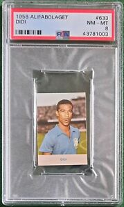 1958 FIFA World Cup Alifabolaget #633 Didi Brazil PSA 8 NM-MT