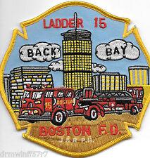 "Boston  Ladder-15  ""Back Bay"", MA (5"" x 5"" size) fire patch"