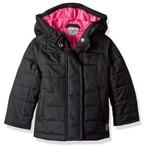 Carhartt Amoret Winter Coat Quilted Jacket Black Girls M 10/12