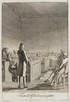 CHODOWIECKI (1726-1801). Deutsche Glaubenseinigkeit; Druckgraphik