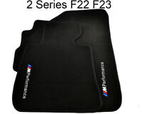 Floor Mats For BMW 2 Series F22 Black With ///M Performance Emblem LHD With