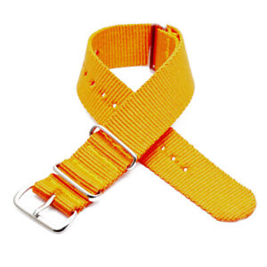 Solid Color Silver Buckle Sports Nylon Strap Removable Easy to Replace