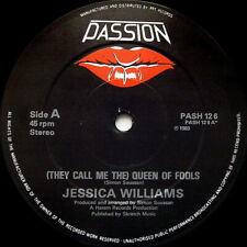 """Jessica Williams  (They Call Me The) Queen Of Fools Vinyl 12"""" Single UK 1983"""