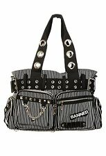 Banned Apparel Handcuff Gothic Rock Punk Tattoo Stripes Handbag Purse BBN754