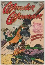 WONDER WOMAN #56,DC GOLDEN AGE,HOMICIDE HIGHWAY!