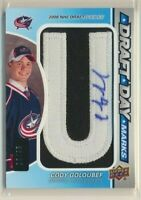 2012-13 SP Game Used Draft Day Marks AUTO Patch U Cody Goloubef /35 Blue Jackets