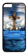 Jesus On Water Cross Case For iPhone 4 4S 5 5S 5C 6 6+ TPU Rubber or Hard Cover