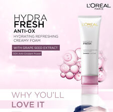L'OREAL PARIS HYDRA FRESH ANTI-OX GRAPE SEED HYDRATING CREAM FOAM 125 ML