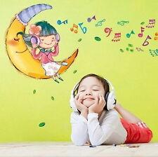 PEGATINA-VINILO DECORATIVO PARA PARED MOON CHILD 50x70 GRANDE.(montado 170x48)