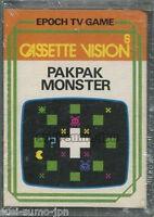 "EPOCH TV GAME CASSETTE VISION""PAKPAK MONSTER""PAK PAC MAN BOXED JAPAN BRAND NEW"