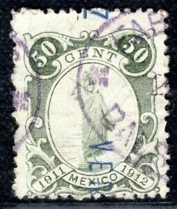 MEXICO Revenue Stamp 50c 1912 908 Used ex Collection {samwells-covers} YELLOW62