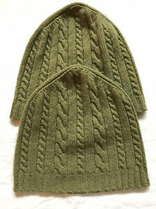 Orvis Shetland Wool Knit Hat x2 O/S Green