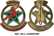 R.I.C.M, Maroc, 2° Escadron, fixation épingle sertie, dos guilloché, Drago(3122)