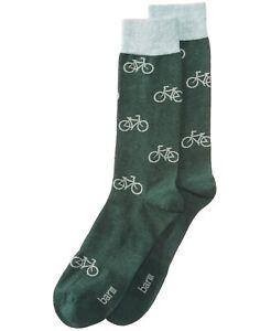 Bar III Men's Green Printed Socks One Size