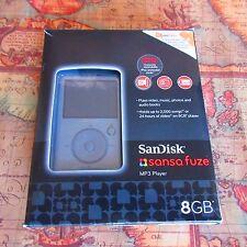 ~RARE~NEW~SanDisk Sansa Fuze Silver ( 8 GB ) Digital Media Player
