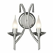 Elstead Brightwell Double Wall Light in Polished Chrome and Crystal BR2