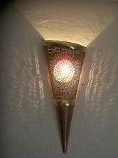 applique murale Marocaine v fer patiné et cuivre lampe lustre lanterne orientale