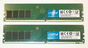 Crucial , 16 Go (2x8Go) DDR4 2666 , 1.2V  Non ECC ,Neuf