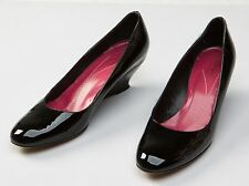 Kate Spade New York Black Patent Leather Wedge High Heels Shoes Size Sz US 7 B