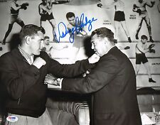 Danny Hodge Signed 11x14 Photo PSA/DNA COA 1958 Boxing Picture w/ Jack Dempsey
