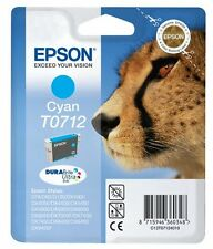 Epson T0712 Cyan Ink Cartridge for Stylus SX400 SX405 SX415 SX600FW