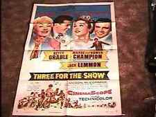 THREE FOR THE SHOW MOVIE POSTER '54 BETTY GRABLE