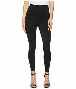 $150 American Rose Womens Black Stretch High-Rise Pull-On Casual Leggings Size L