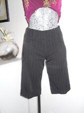 bermuda habillé de marque JENNIFER taille 34 noir rayé pantacourt corsaire short