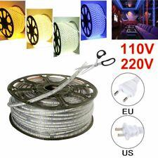 110V 220V 5050 LED Strip Light Flexible Tape Rope Xmas Outdoor IP67 Waterproof