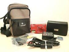 Nikon Coolpix S6200 Digital Camera Full Bundle 16.0MP 2 cases cords memory card