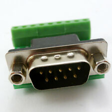 DB9 D SUB DE9 Male Connector 9 Pin Terminal Breakout Board UART RS232  RS485 422