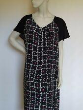 👌 MARINA RINALDI- 100% SILK BLACK  DRESS MR29 /IT 58/ US20