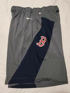 Nike Dri-fit Men Gym Shorts Lined Boston Red Sox Gray Blue SIZE XXL