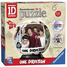 ONE DIRECTION RAVENSBURGER 3D PUZZLE - GLOBE SHAPED PUZZLE WITH STAND -72 PIECES