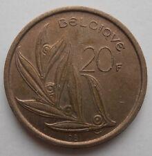 BELGIQUE 20 francs 1981