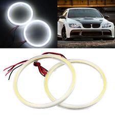 80MM White COB Angel Eyes Halo Ring Motorcycle Car LED Daytime Running Light 12V